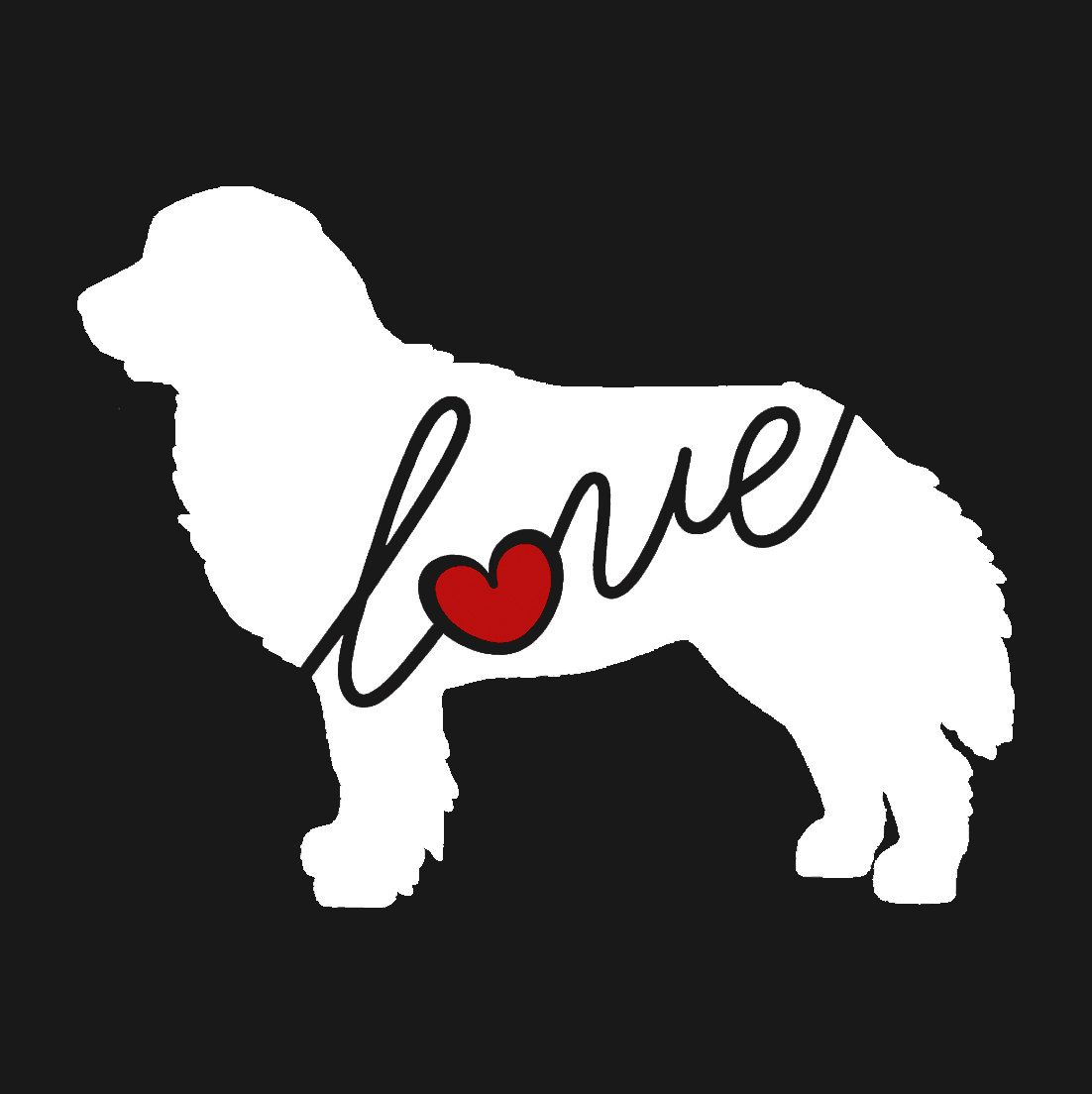Bernese mountain dog love window vinyl car sticker decal for dog lovers ships free by traciwithanidesigns on etsy