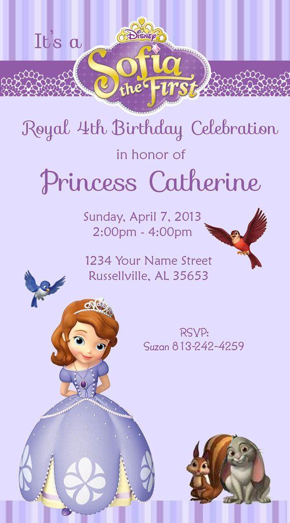 Sophia the First Princess Invitations by DesignsbySuzan on Etsy ...
