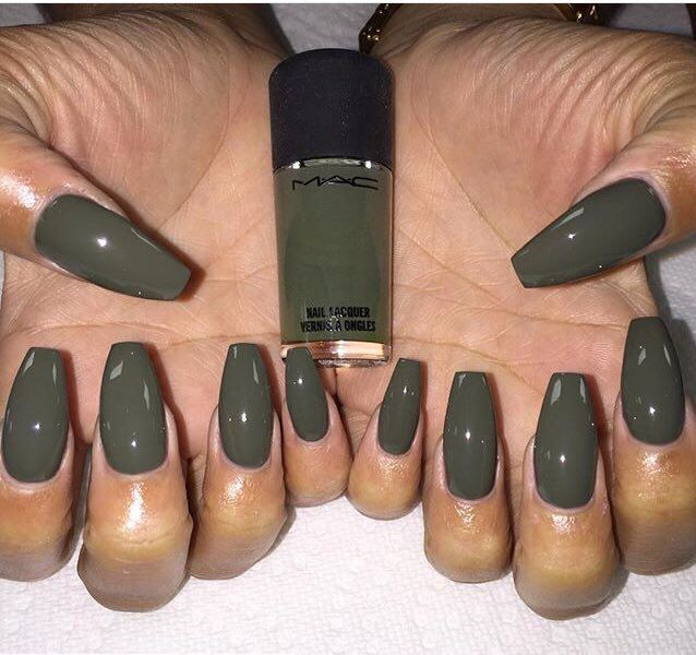 mac olive green nails pinterest nagelschere nageldesign und fingern gel. Black Bedroom Furniture Sets. Home Design Ideas