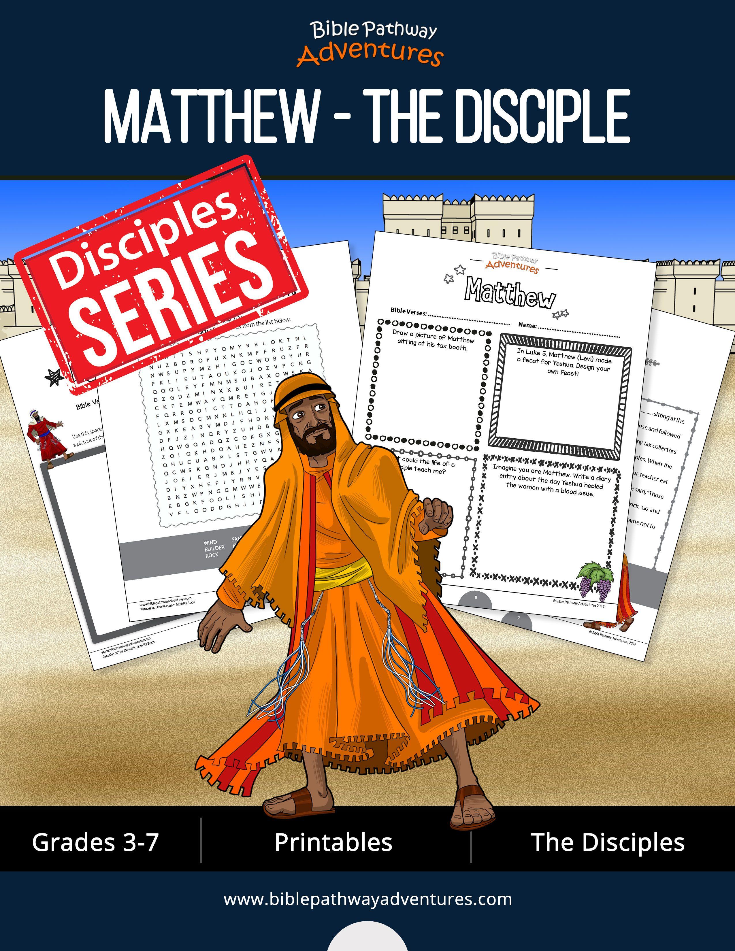 Matthew The Disciple Activity Book