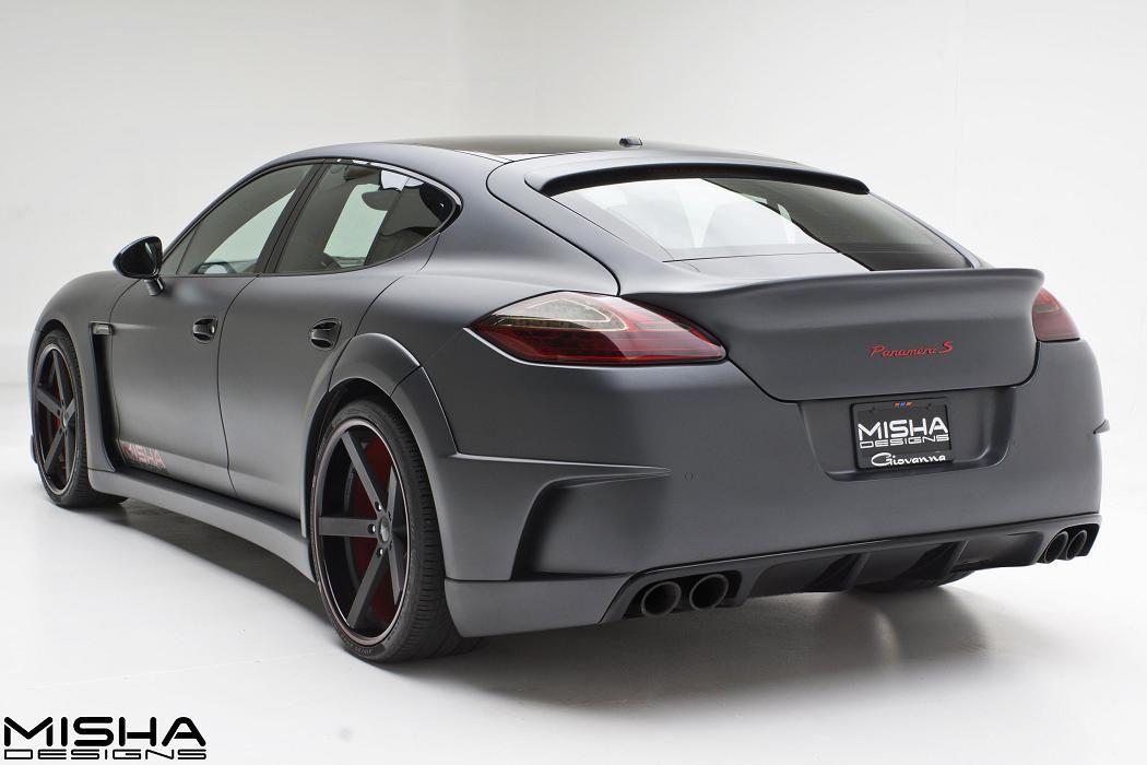 Porsche Panamera Wide Body Kit On Matte Grey Panamera S Porsche Panamera Porsche Matte Black Cars