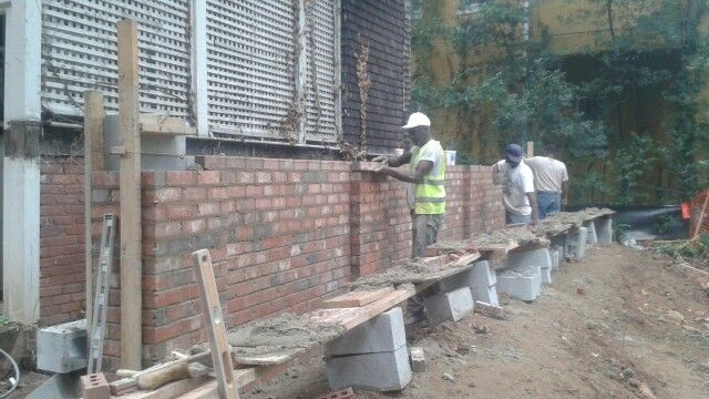 Myers & Heard Masonry Contractors in Atlanta installing a brick addition in downtown Atlanta,Georgia. Call Jeff Myers today for your free affordable estimate at 678-866-5281 or email us at www.myersmasonry@yahoo.com.