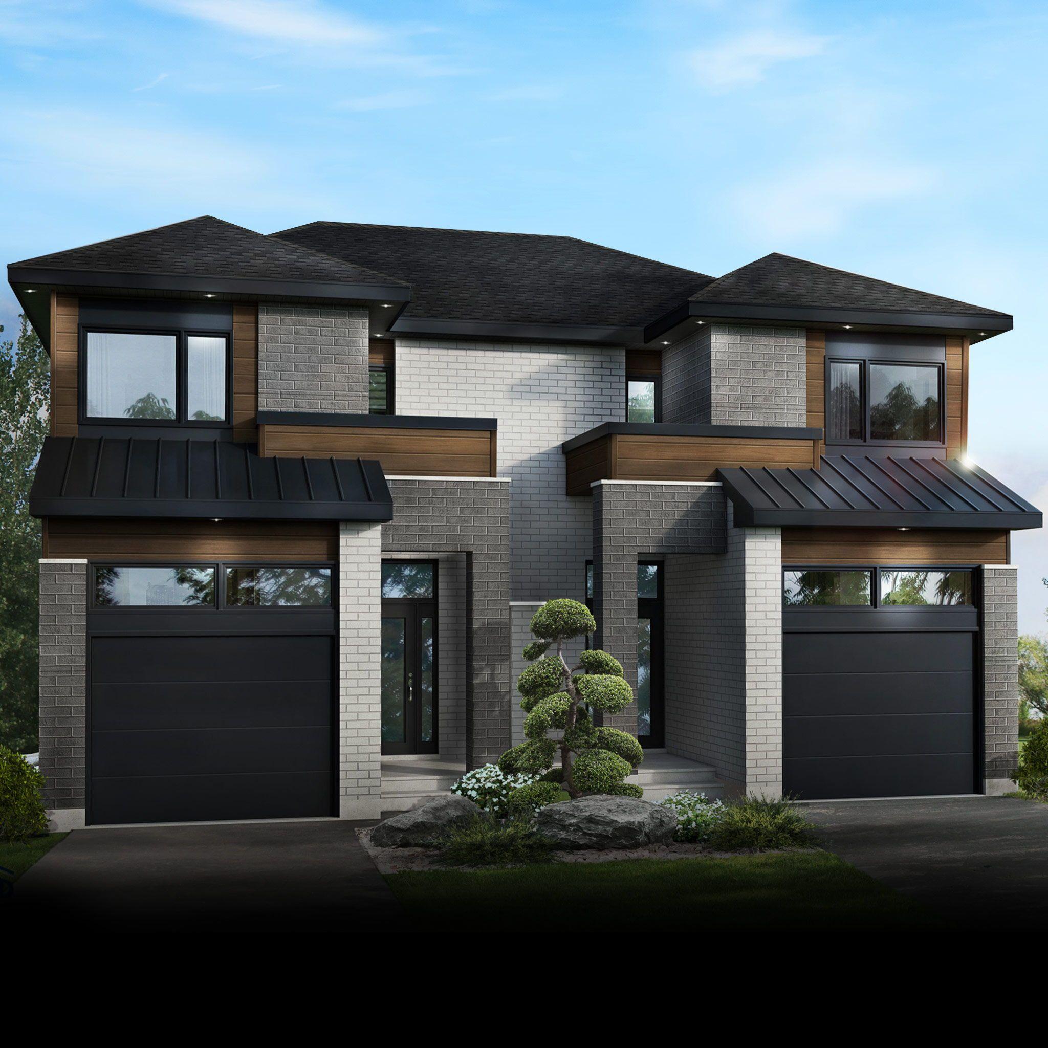 Maison De Ville De Gbd Construction Duplex House Design Minimalist House Design Townhouse Designs