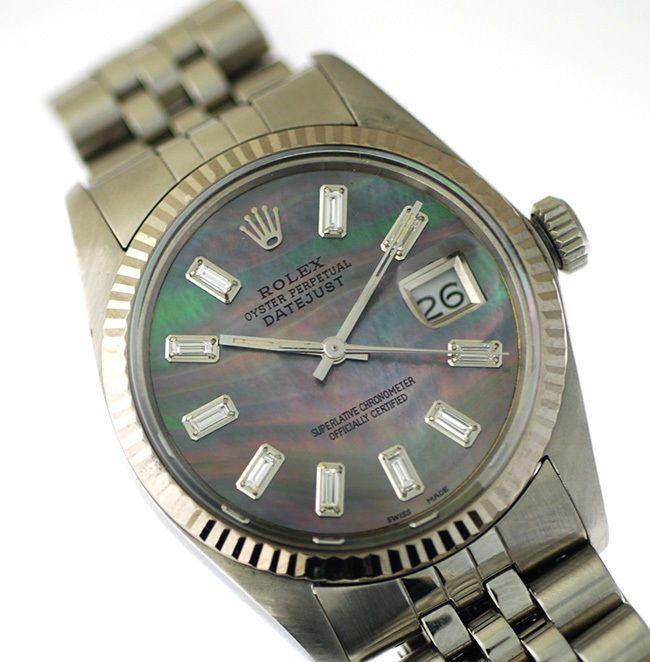 Rolex Mens Datejust Steel Watch, With Black Pearl Diamond Dial, Jubilee Band #Rolex #LuxuryDressStyles