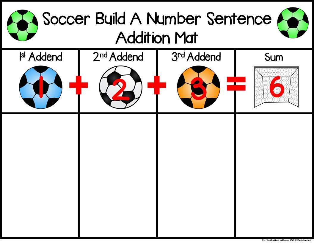 Soccer Build A 3 Addend Addition Or Subtraction Number