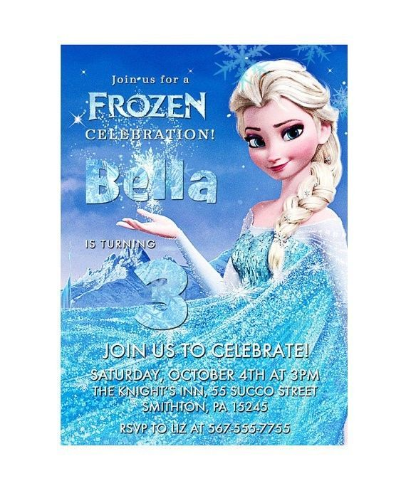 Disney Frozen Birthday Party Invitation Invite Printable Custom Elsa