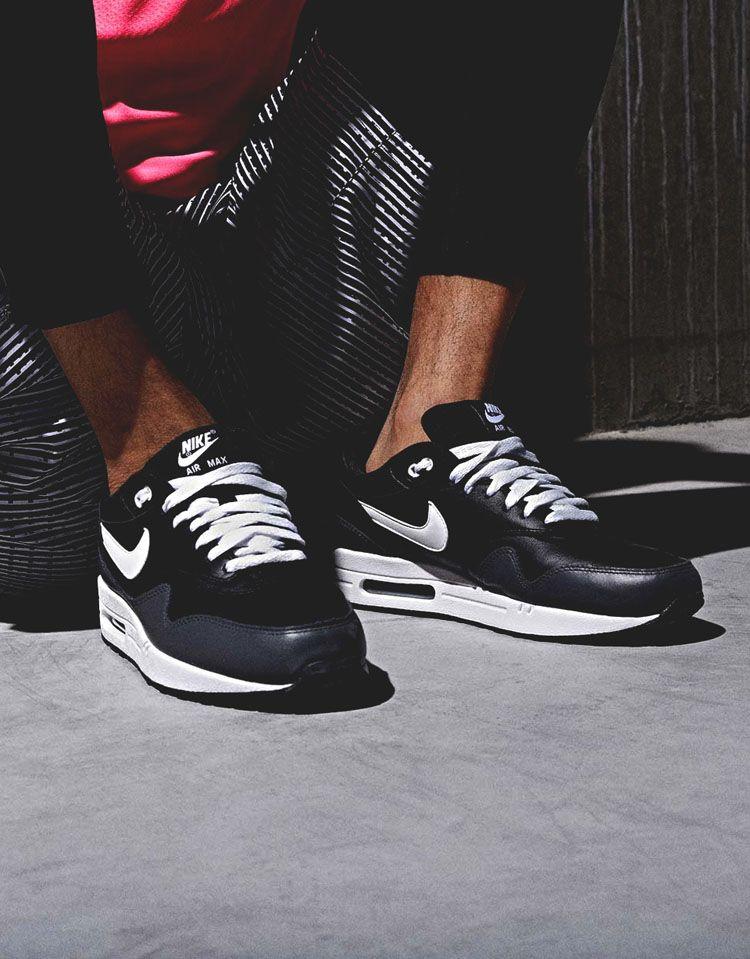 Nike Air Max 1 black leather | Nike air max, Air max 1 black