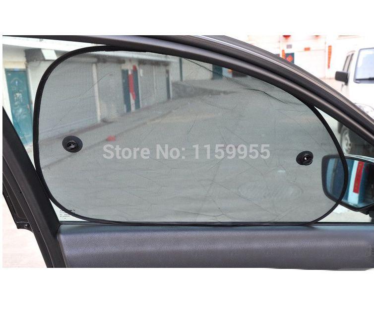 2pcs 65 38 Black Side Car Sun Shade Rear Window Auto Glass Sunshade Sunshade Cover Mesh Visor Shield Screen Solar Pro Car Sun Shade Black Car Solar Protection
