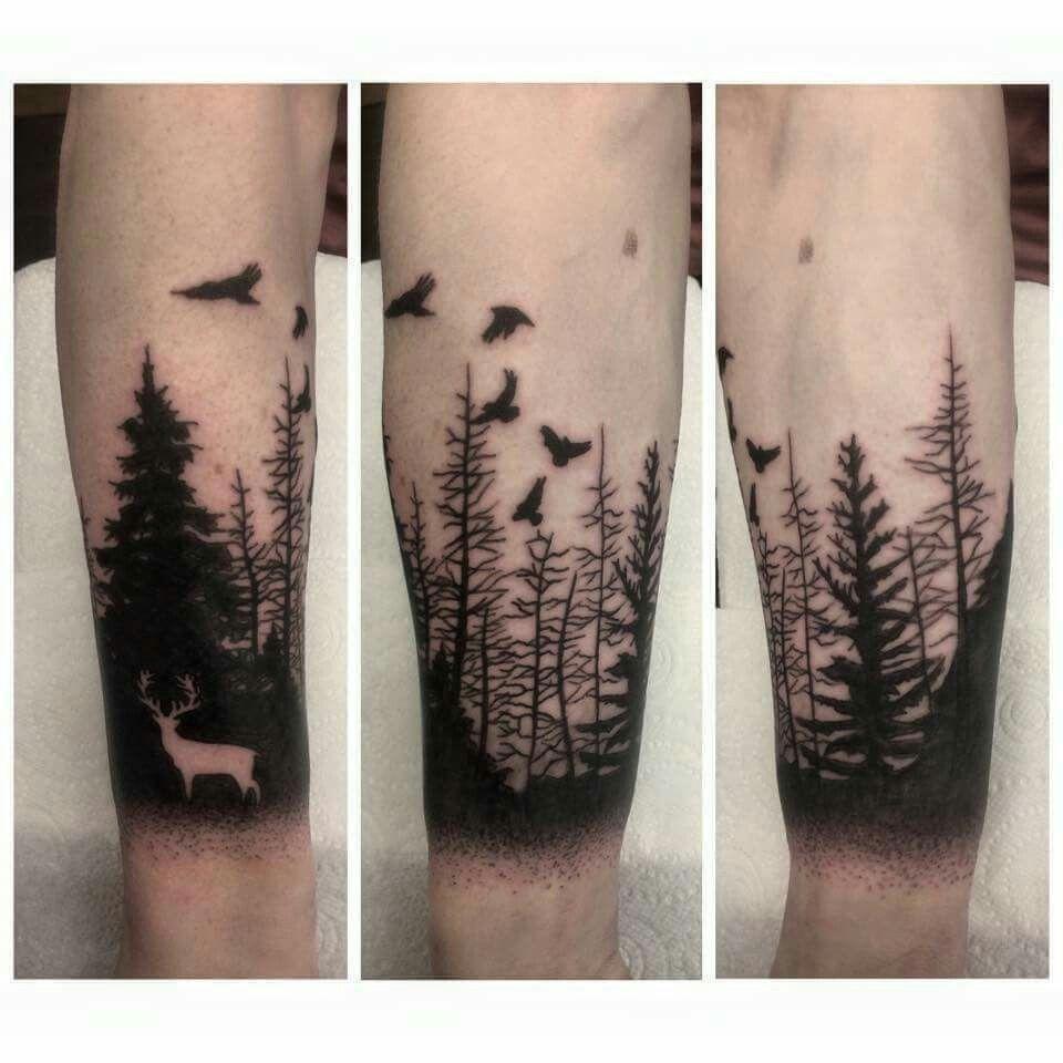 First tattoo tattoo dotwork woodland inspirational