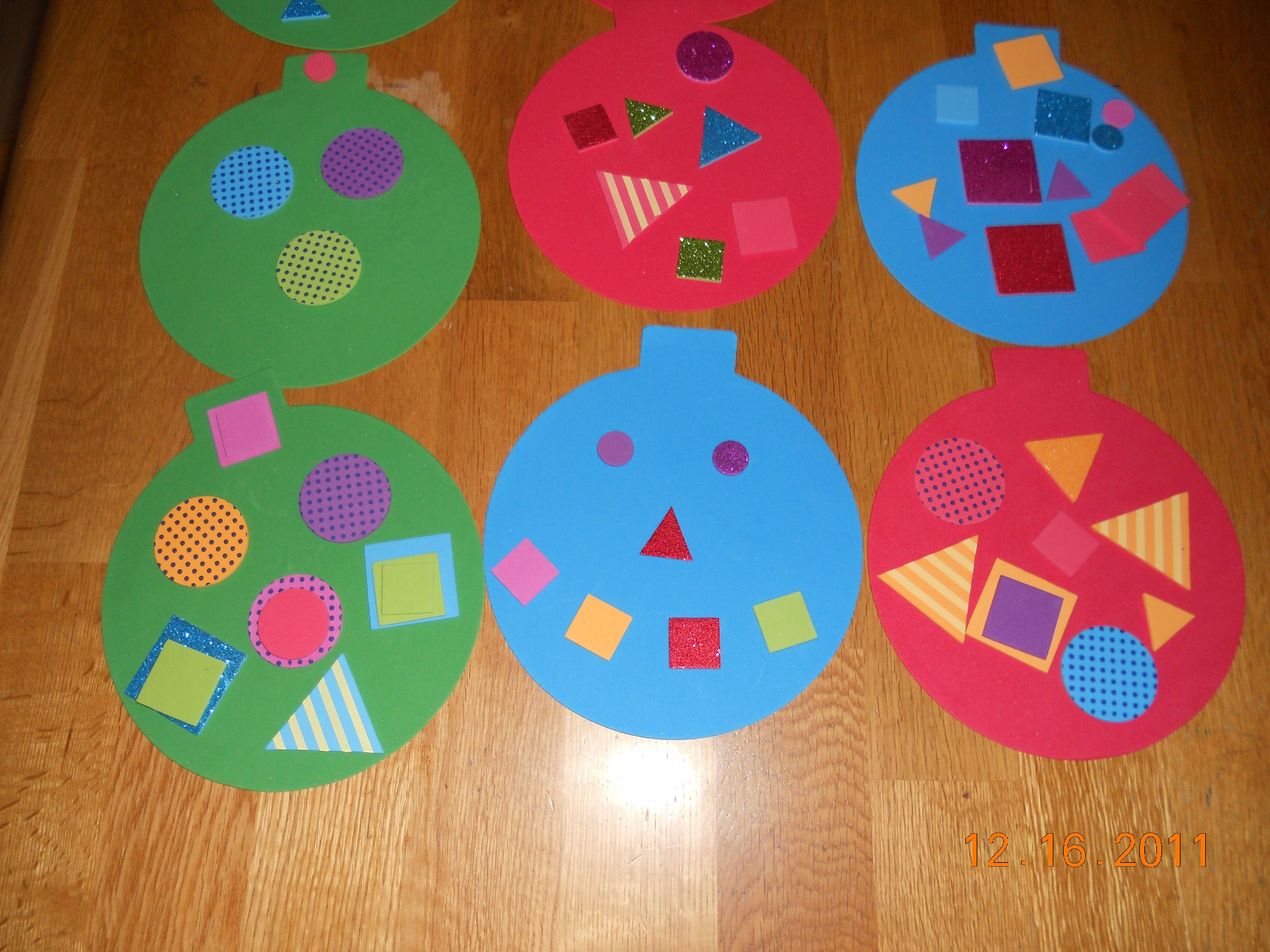 Easy Christmas Ornament Craft for Kids precut and run