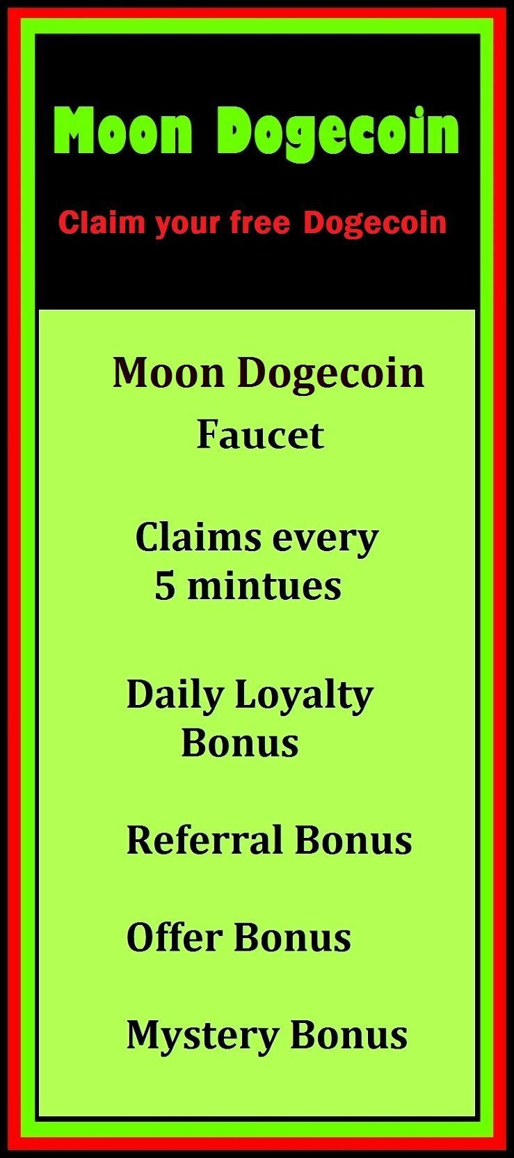 Moon Dogecoin Faucet ,internet currency,make money, cryptocurrencies