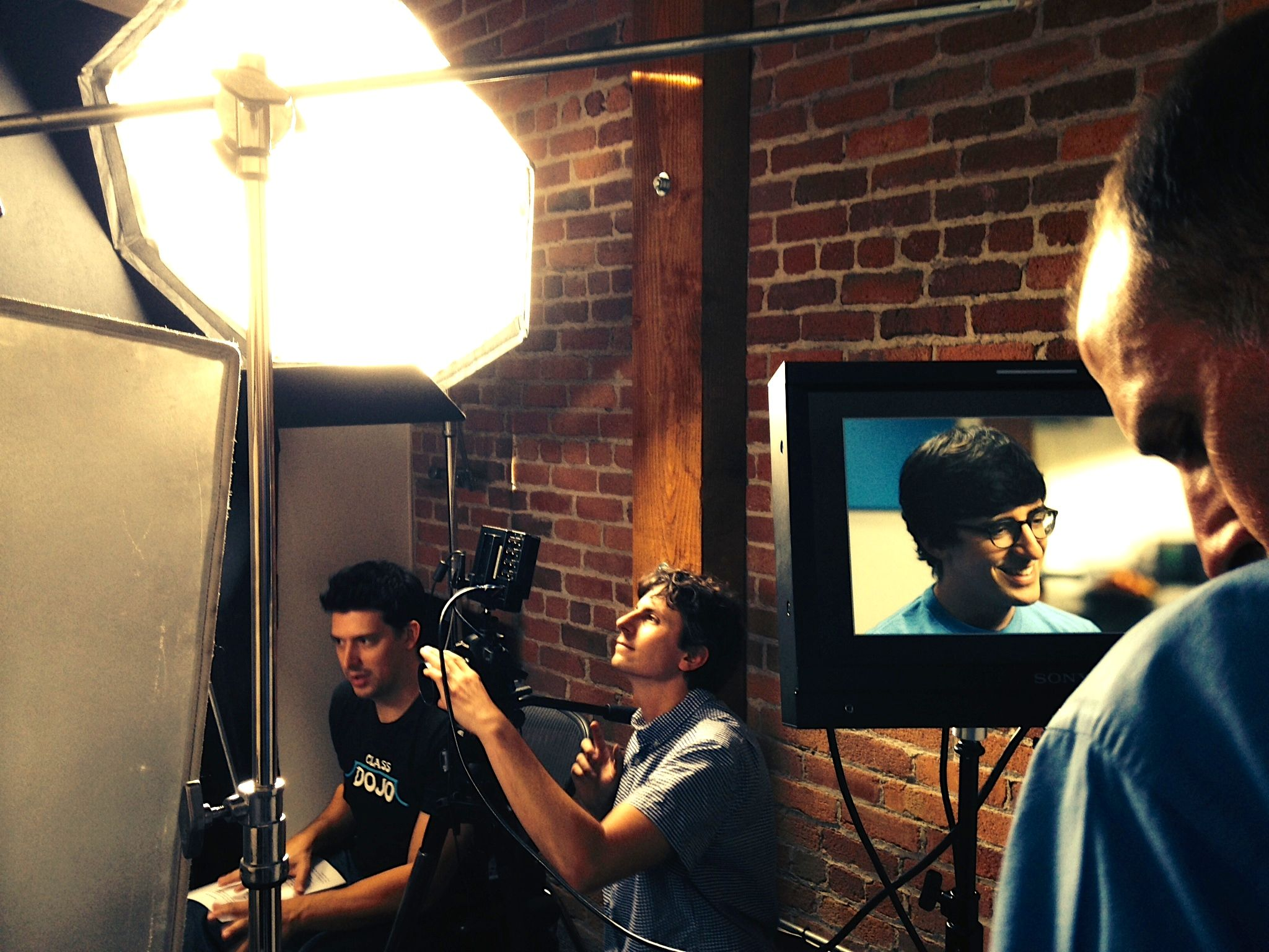 Shoot at the headquarters of quizlet! our film crew at work