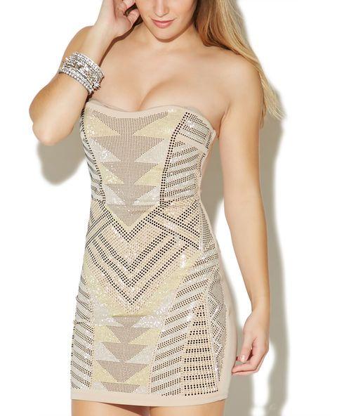 Show Stopper Rhinestone Tube Dress