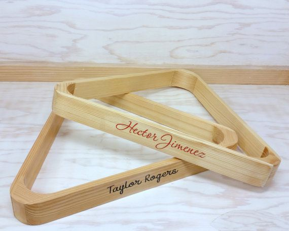Give dad a special Christmas gift this year!!  Personalized billiard rack made of wood.