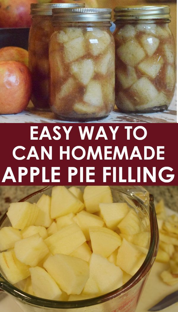 Homemade Apple Pie Filling for Canning | Recipe | Canning ...
