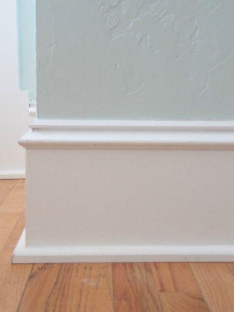 love this trim!   baseboard styles, floor molding, floor