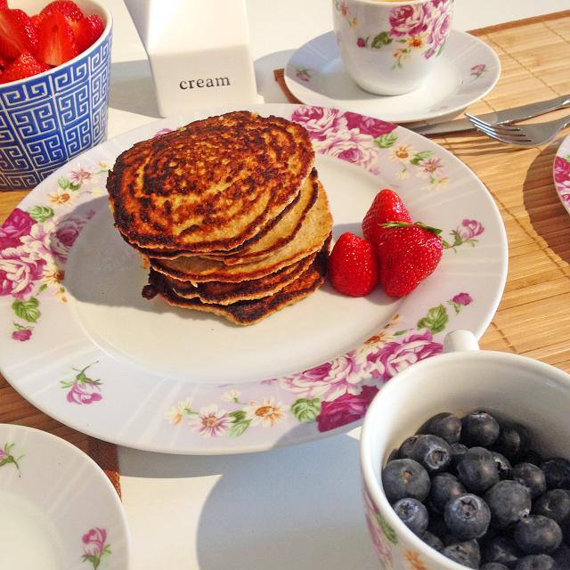 KleinstadtMädchen: gesunde Frühstücks Pancakes