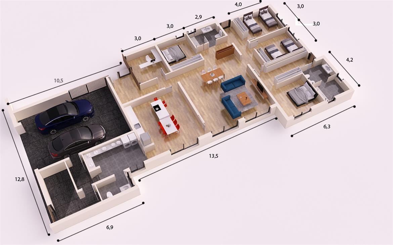 Fuliola 315 m2 casas personalizadas donacasa en 2019 casas casas personalizadas y - Casas hormigon celular ...