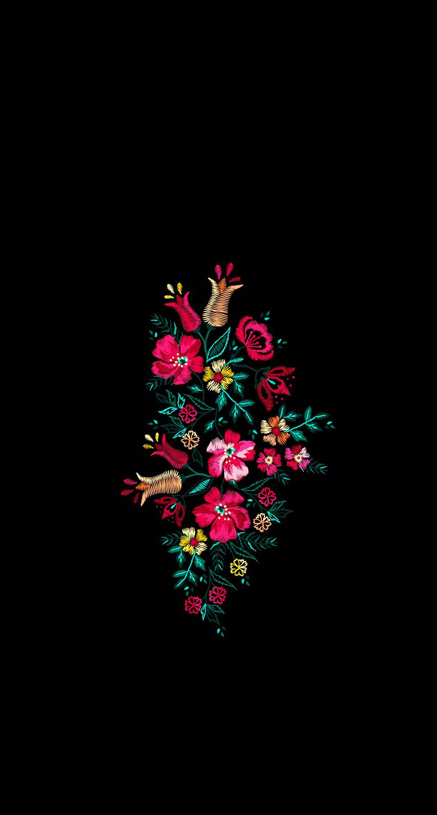 Black And Pink Flowers Mexico Wallpaper Cellphone Wallpaper Dark Wallpaper