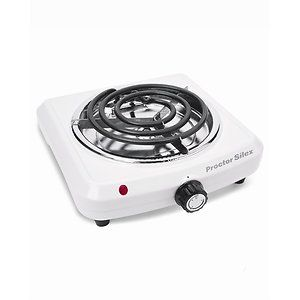 Portable 1000 Watt Single Electric Dorm Stove Fifth Burner Slim