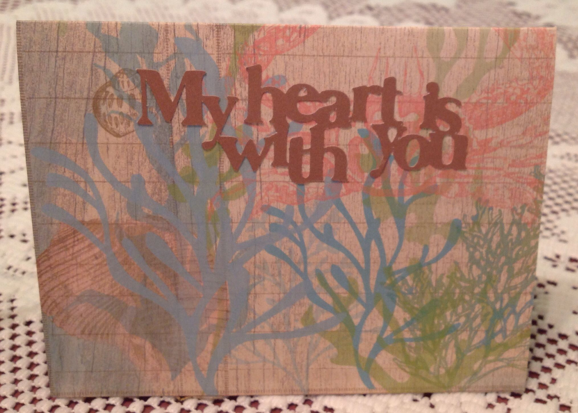 Front of Artfully sent Cricut card