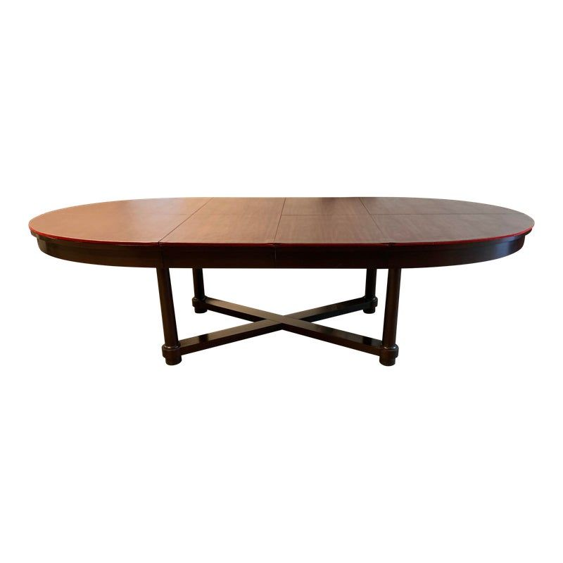 Barker Furniture Barbara Barry Oval Table Mahogany Dining Table