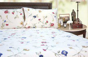 Tribeca Living Queen Floral Garden Printed Extra Deep Pocket Flannel