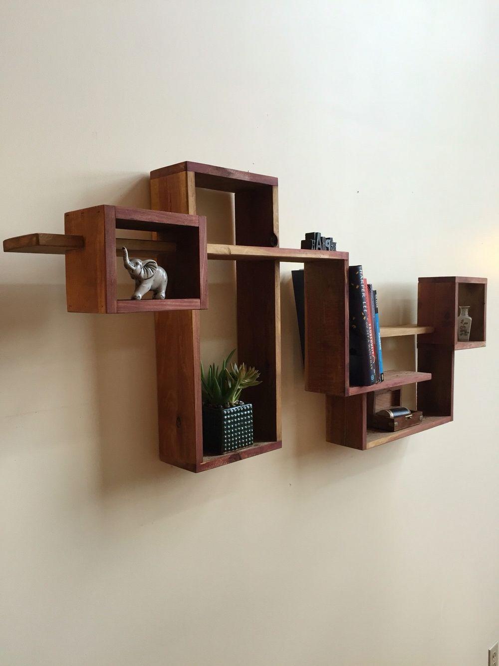 Geometric Shadow Box Display Cabinet Wall Hanging Shelf Wall Hanging Shadow Boxes Wooden Shadow Boxes W Bookcase Diy Wooden Shadow Box Wall Hanging Shelves
