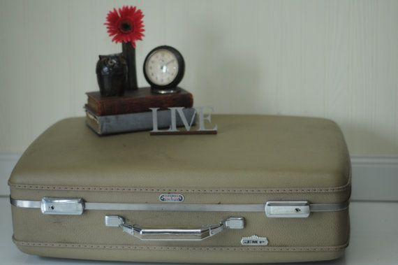 Vintage Suitcase American Tourister Luggage by PageScrappers, $19.99