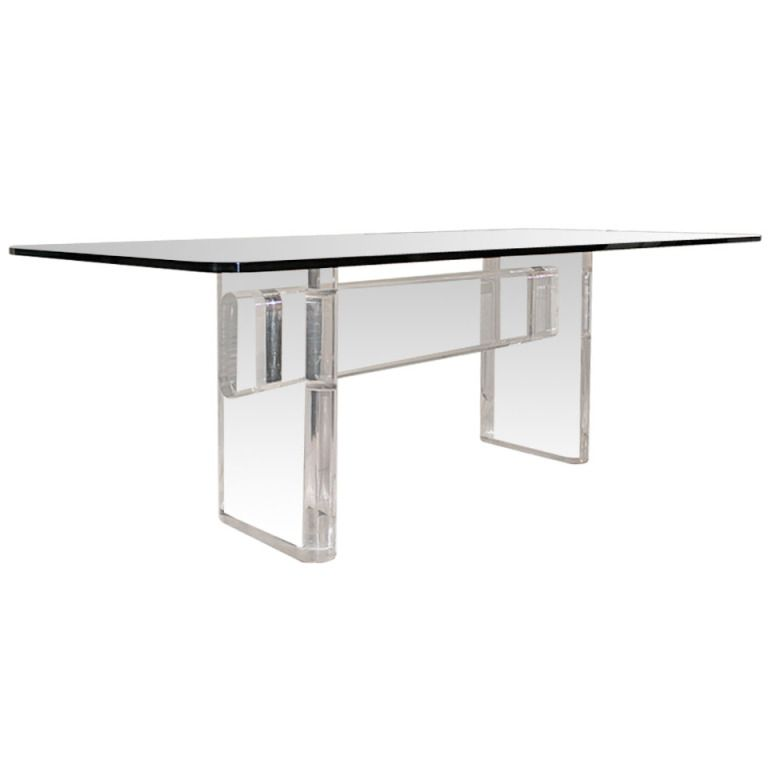 Lucite Dining Table By Karl Springer, USA, C. 1980s | From A Unique