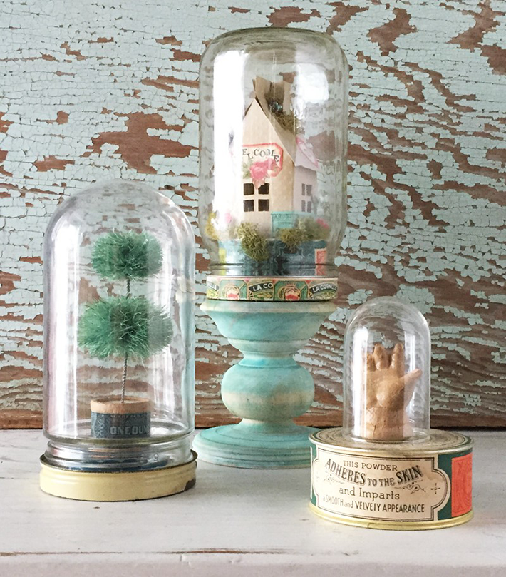 Have you ever considered using a cloche or bell jar as