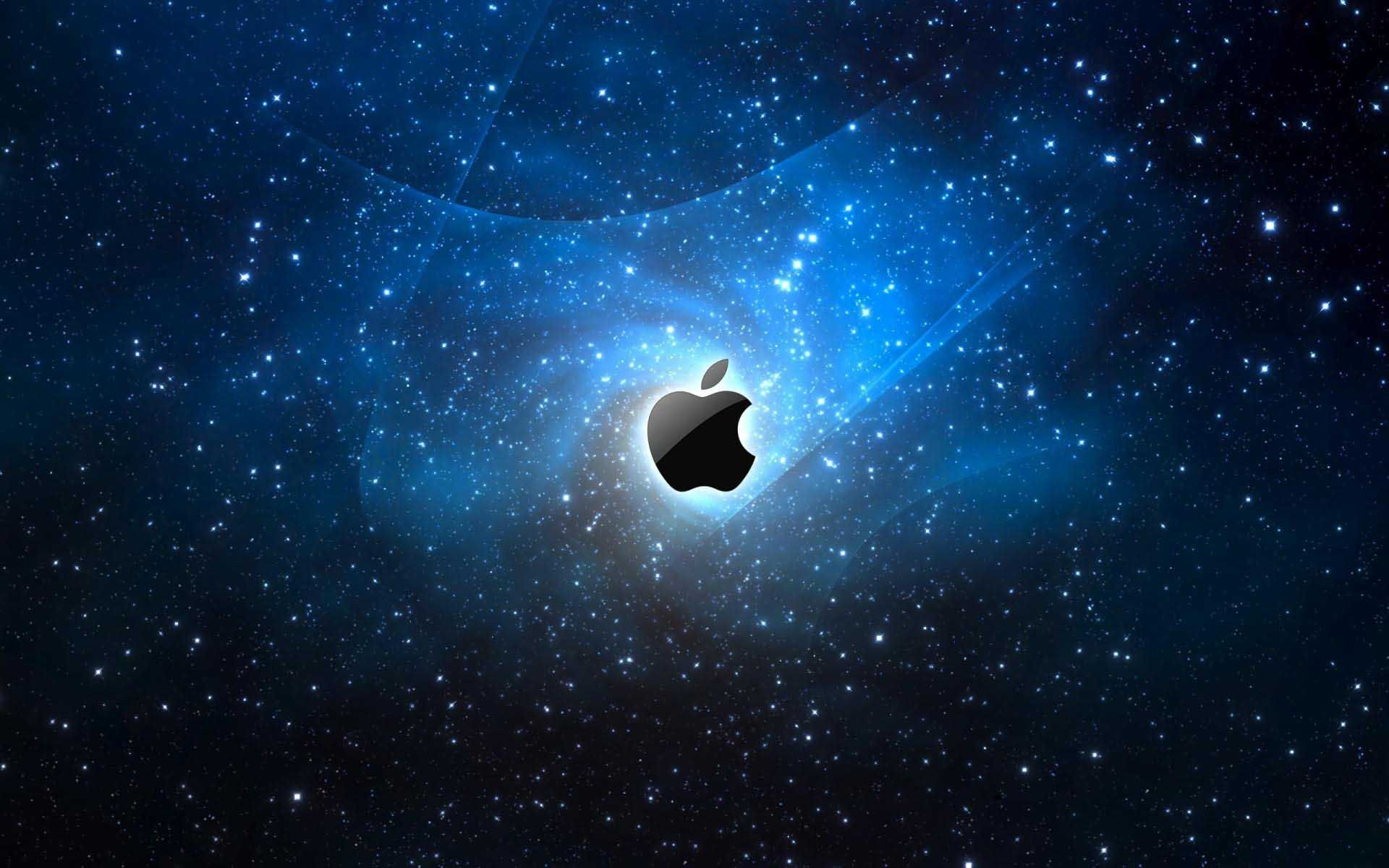 Apple logo wallpapers full hd wallpaper search page 10 - Computers Apple Logo In Space Moving Wallpaper 1920x1200 Cool Pc Wallpapers