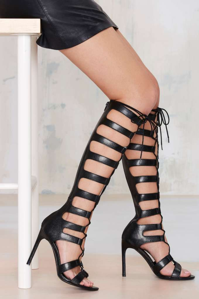 Nasty Gal Fighter Gladiator Heel | omg want these so bad