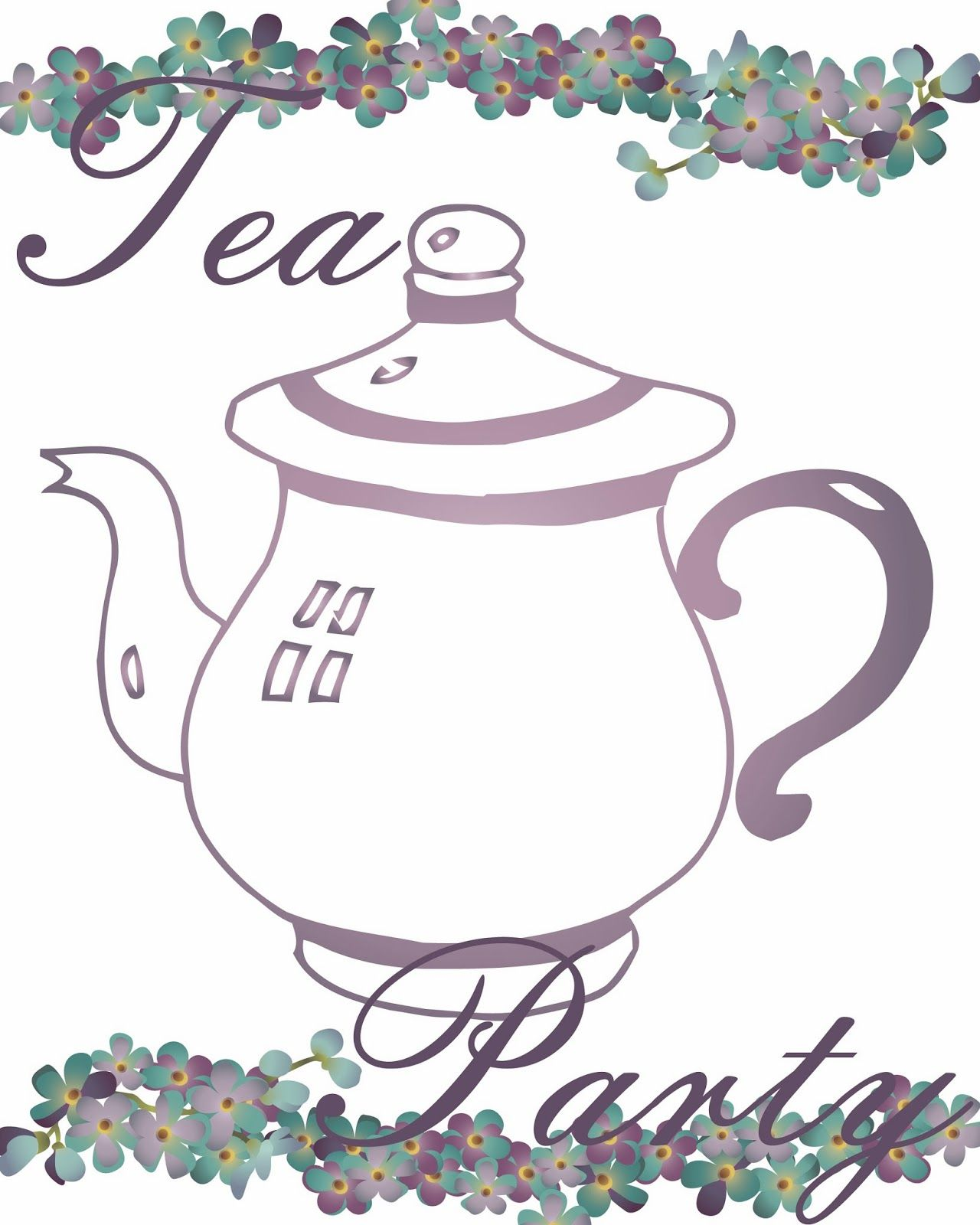 photo about Free Printable Tea Party Games identified as No cost TEA Bash PRINTABLES Tea Season - Tea Get together - Tea