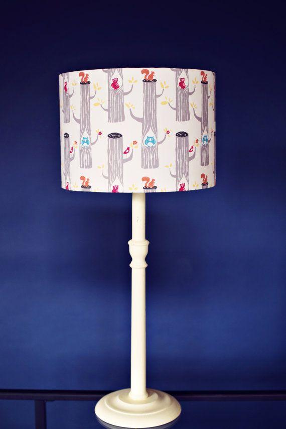Lampshades, woodland animals, childrens bedroom, nature lamp ...