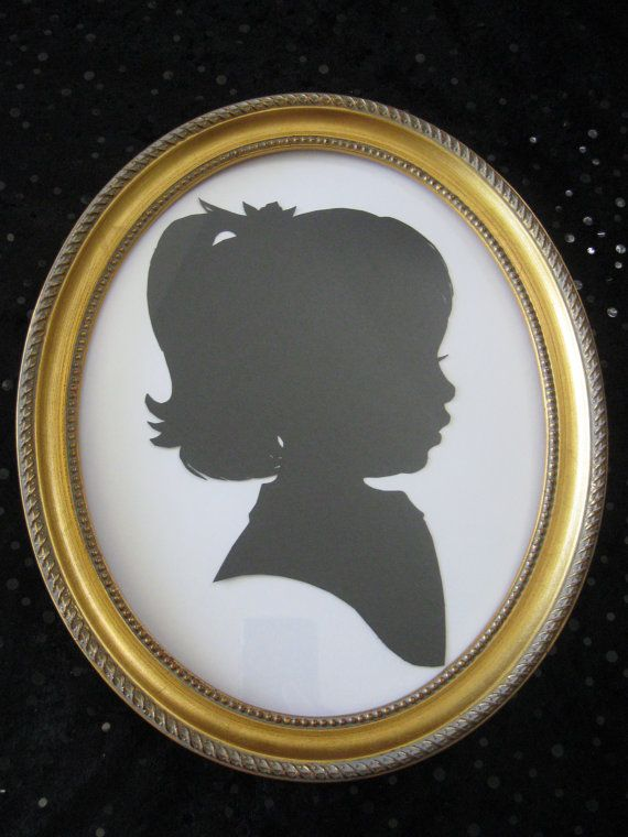 5x7 inch Gold Oval Wood Frame for Silhouettes | Silhouettes, Woods ...