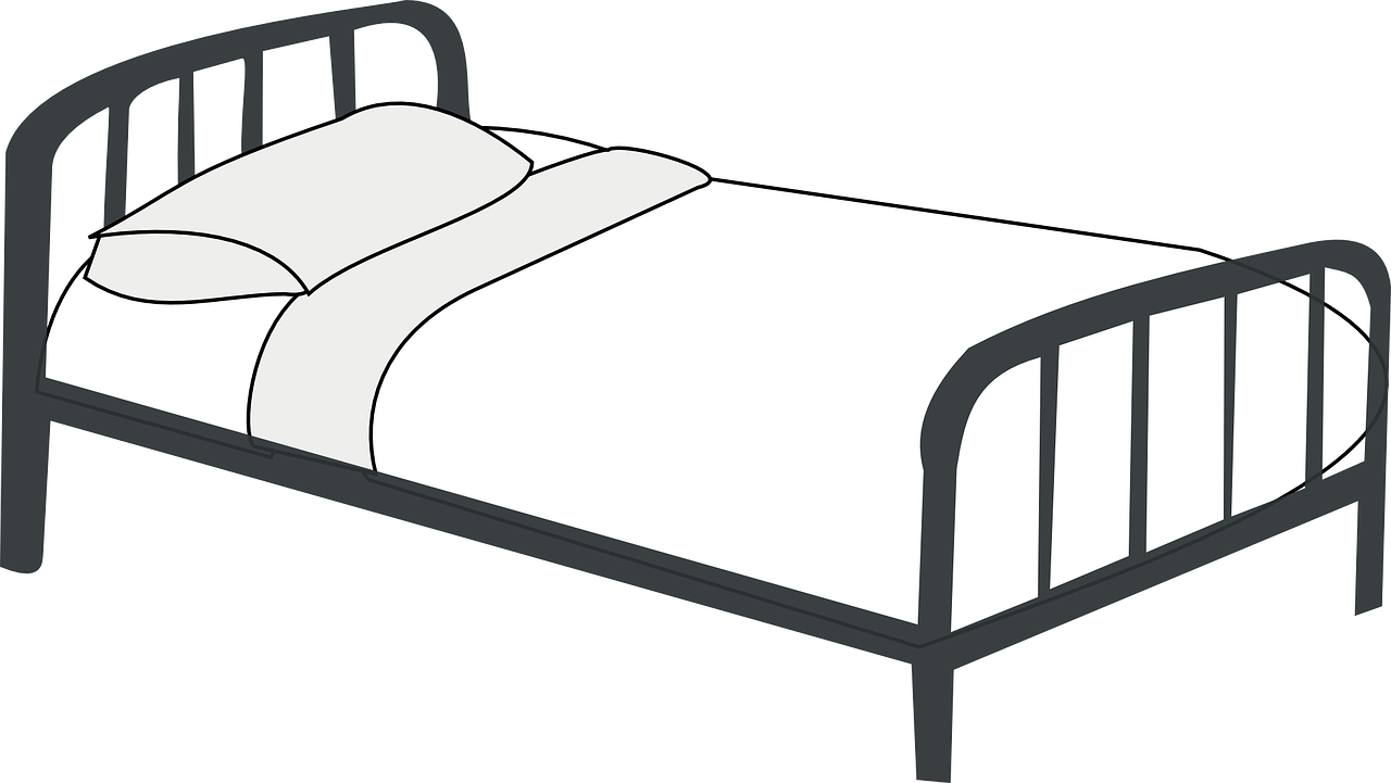 Bed Clipart Black And White Bed Clipart Bed Hotel Pillows