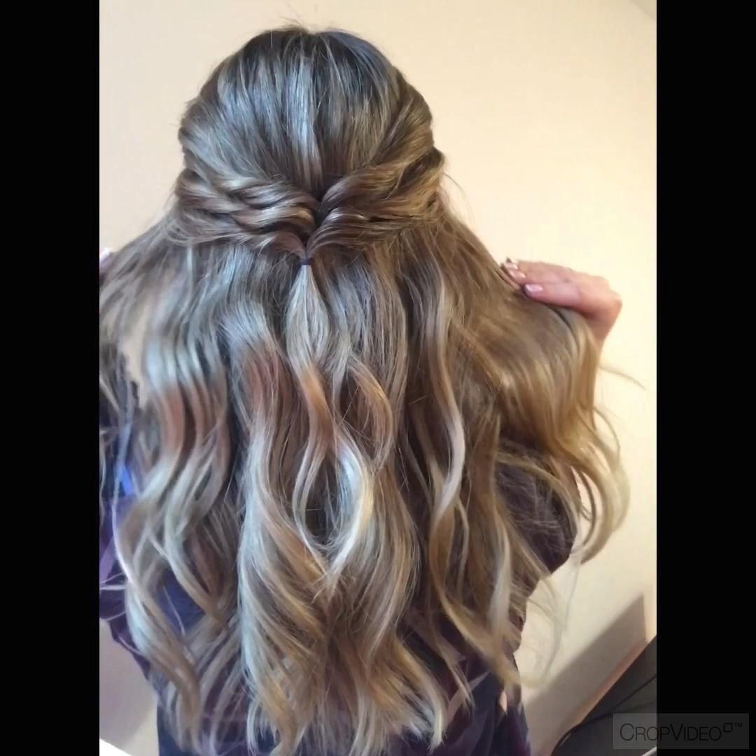 3 Easy Half Updos For Long Hair 1000 In 2020 Hair Styles Simple Prom Hair Easy Hairstyles For Long Hair