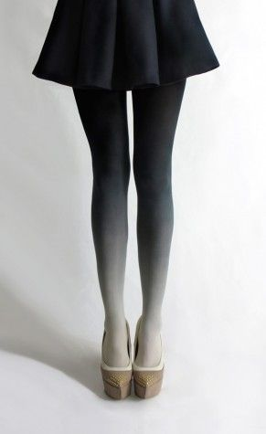 BZR - OMBRE BLACK TO GRAY TIGHTS