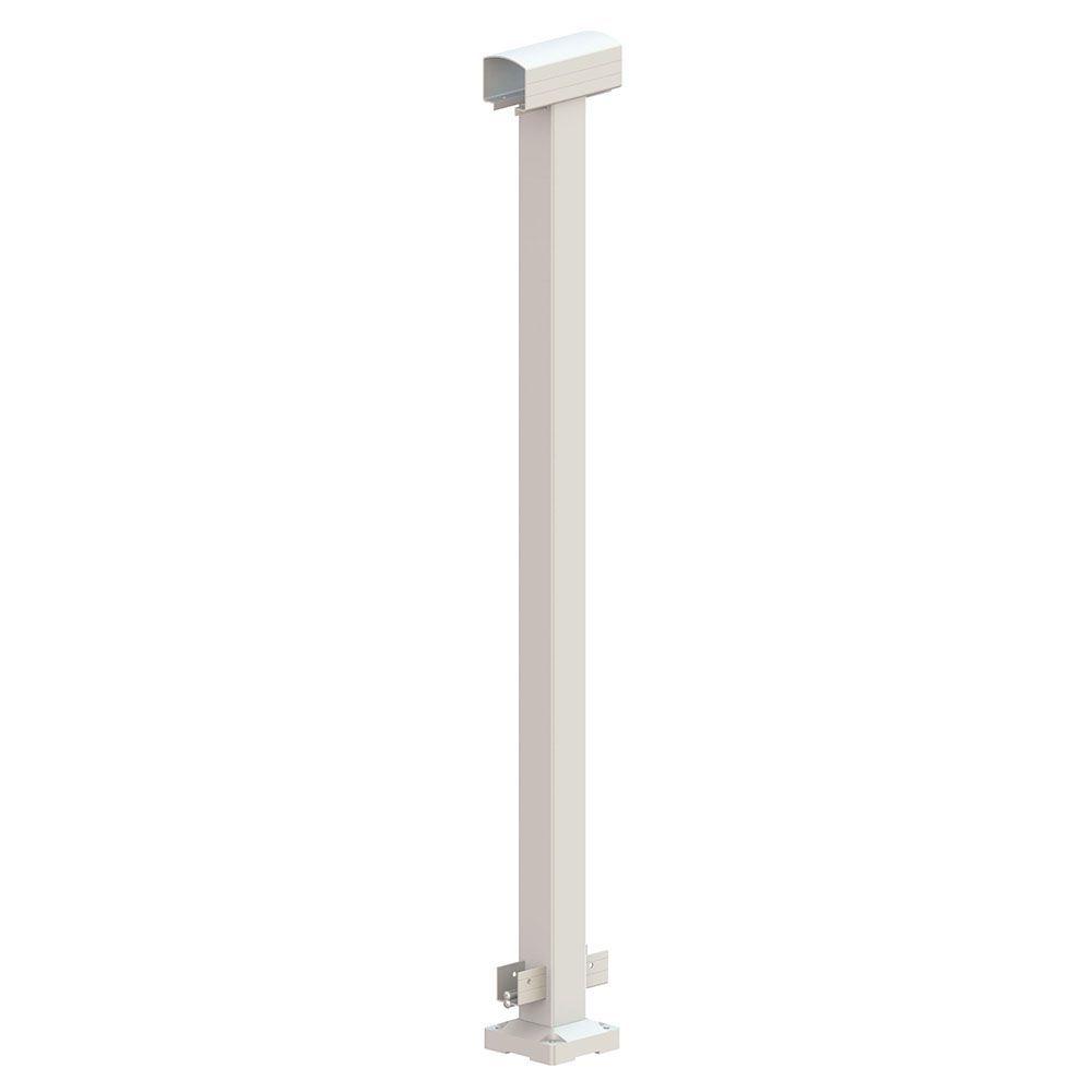 Best Railblazers Mid Post White Stair Posts Glass Panels 400 x 300