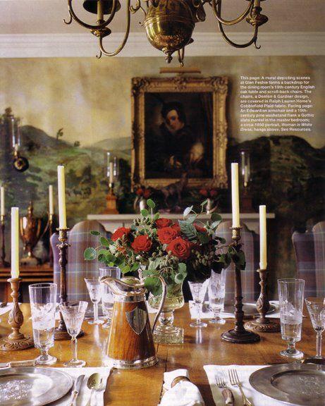 Scottish lodge table setting & Scottish lodge table setting | The Enchanted Castle | Pinterest ...