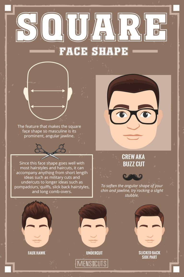 What Haircut Should I Get For My Face Shape Menshaicuts Com Face Shapes Guide Square Face Hairstyles Round Face Haircuts