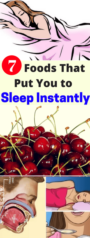 Here 7 Foods That Put You to Sleep Instantly!!!  #lifehacks  #fitness