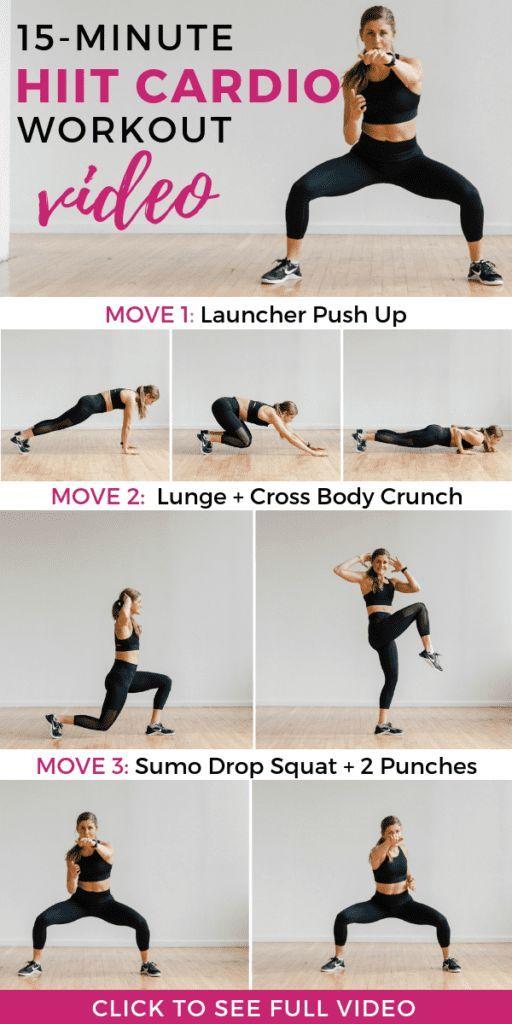 15-Minute HIIT Cardio Workout No Equipment | Nourish Move Love