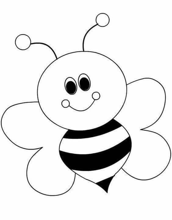 Ballagós tablóhoz nyomtathatók Pinterest Bees, Template and Craft - best of bee coloring pages preschool