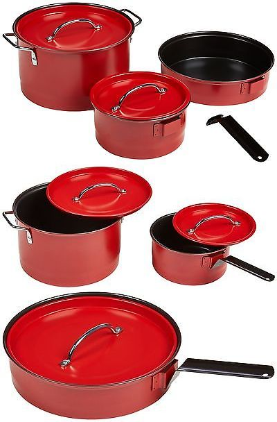Camping Cookware 87141: Coleman 2000016422 Cookware Set Red 6-Pc. 5 Piece -> BUY IT NOW ONLY: $32.26 on eBay!
