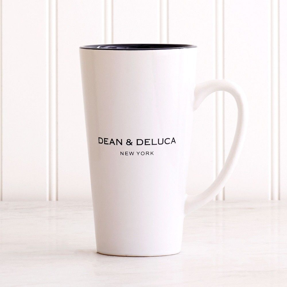 DEAN & DELUCA White with Gray Latte Mug New York | Dean & DeLuca ...