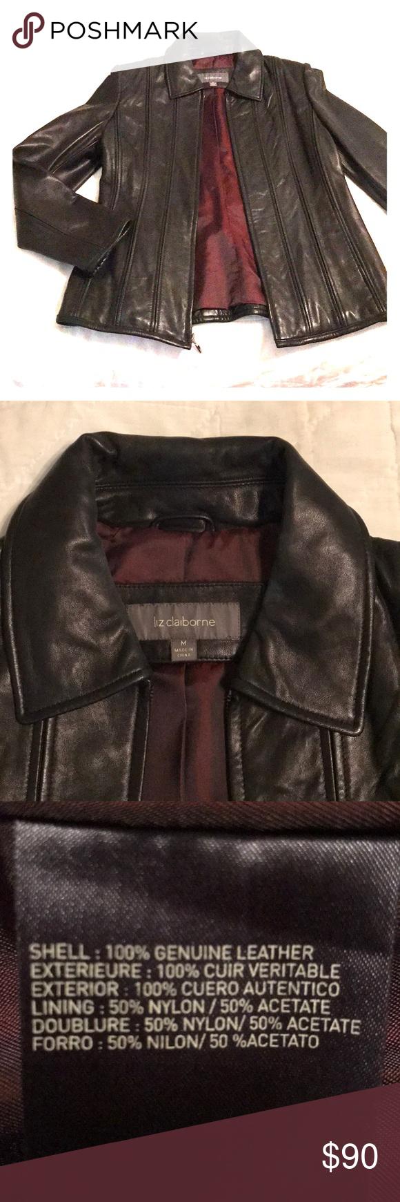 Liz Claiborne Leather Jacket Leather Jacket Liz Claiborne Claiborne