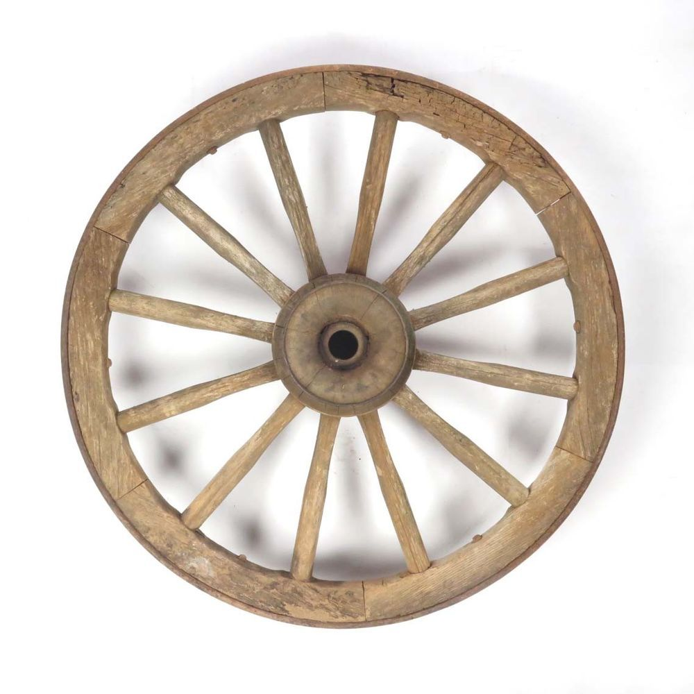 Antique Wagon Wheel Wood Cast Iron Hub 12 Spoke Primitive Rustic Vtg Primitive Wagonwheel Wagonwheelchandelier F Antique Wagon Wheels Wagon Wheel Primitive