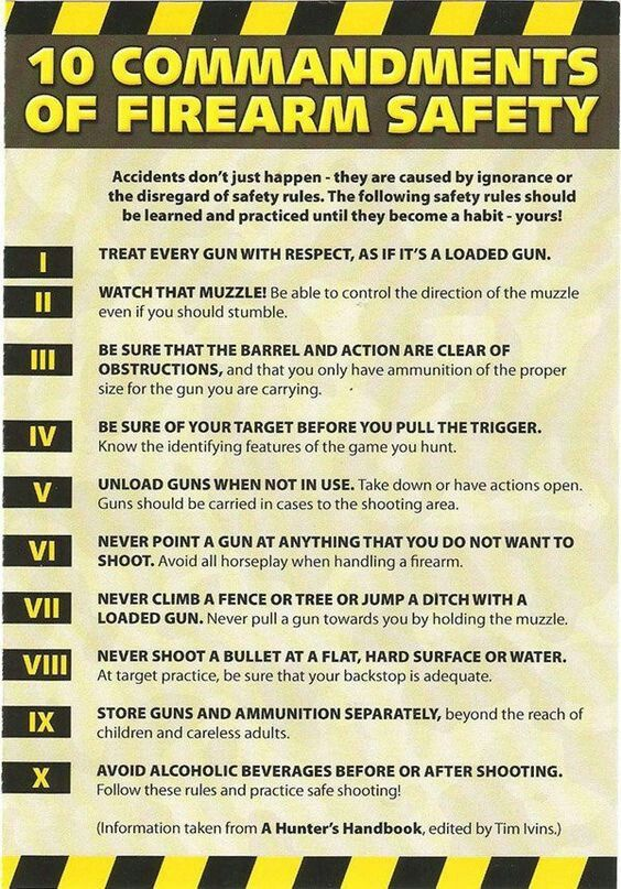 Pin on firearm safety rules